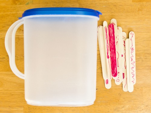 General Conference Activities Popsicle Sticks in Milk Jug