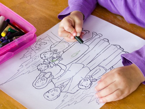 Print off some church coloring pages and give your toddler some crayons. Great way to keep toddlers occupied during General Conference.