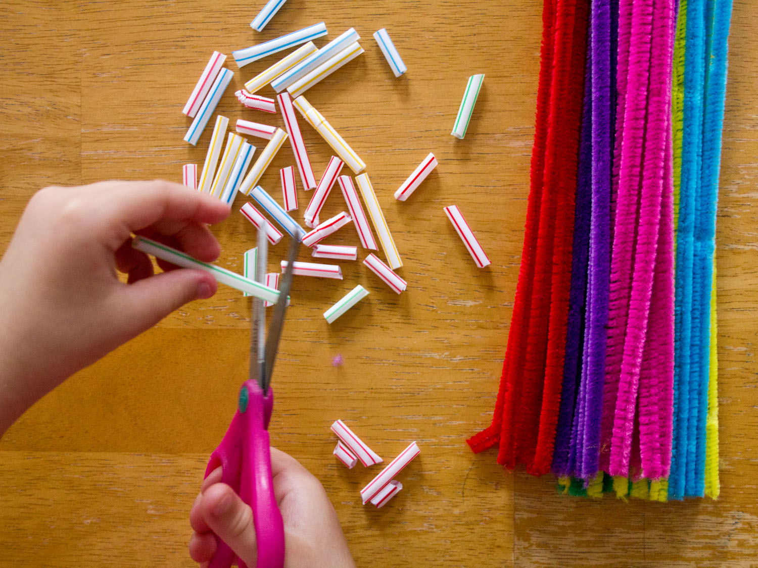 General conference activities straws and pipe cleaners for Pipe craft