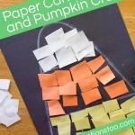 Paper Candy Corn and Pumpkin Craft