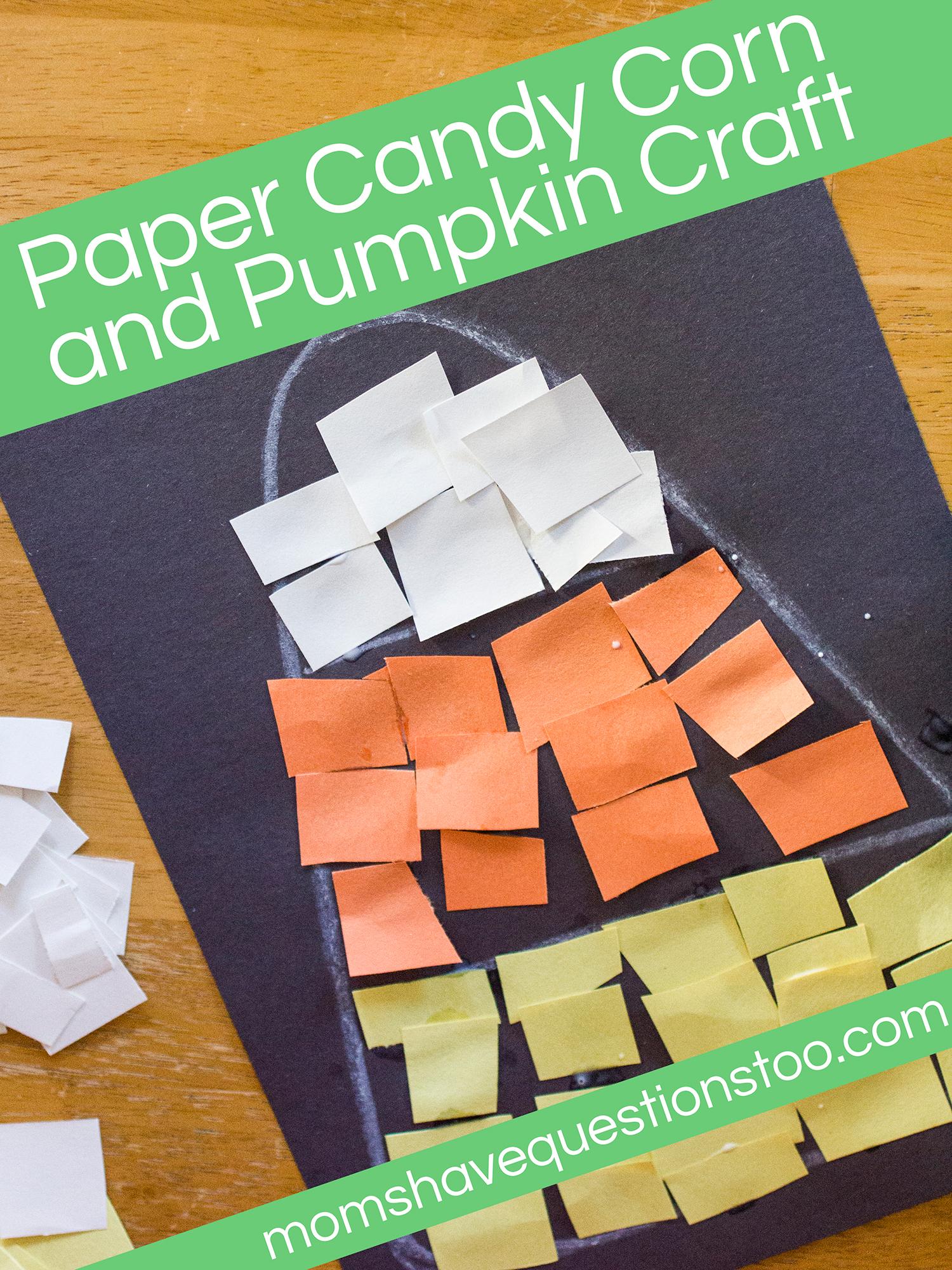 Candy Corn and Pumpkin Paper Craft