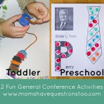 General Conference Activities — Egg Carton Beading, Do-a-dot Apostle Pages