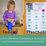 General Conference Activities — Pipe Cleaners in Container, Word Hunt Worksheets