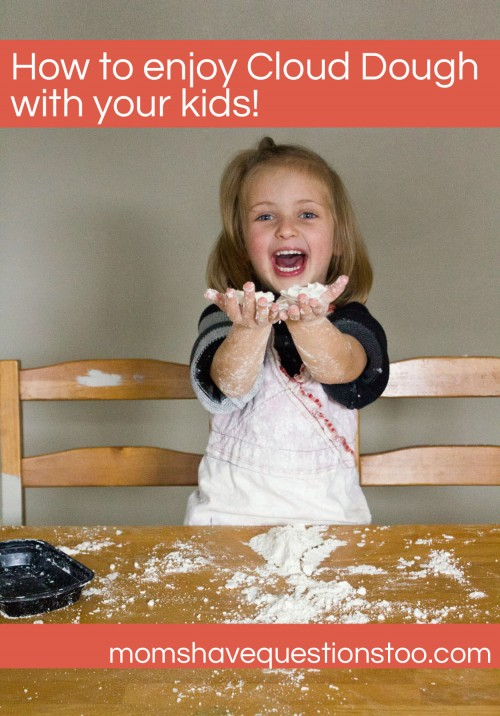 How to enjoy Cloud Dough with your kids