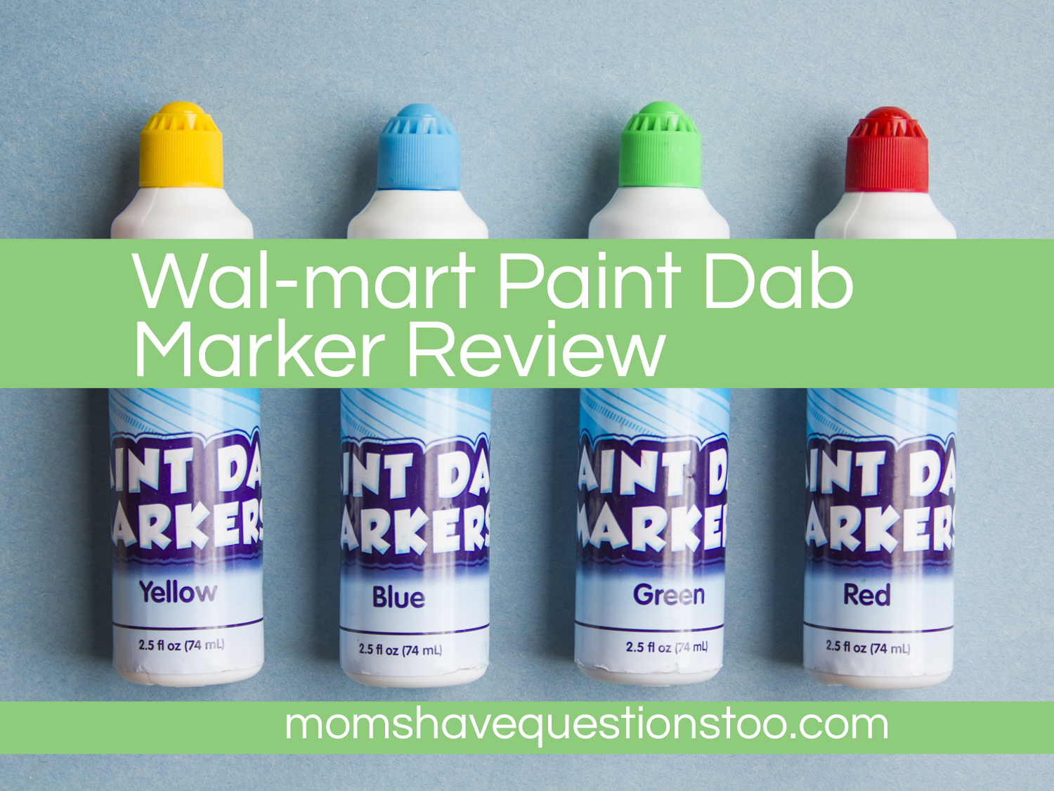 Knitting Markers Walmart : Review of walmart paint dab markers