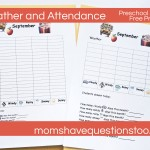 Preschool Journal – Weather and Attendance