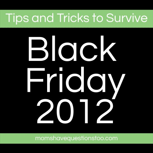 Tips and tricks for Black Friday 2012