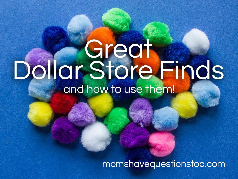 Dollar Store Finds Pom Poms