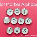 Flat Marble Alphabet