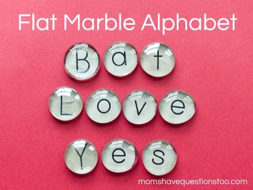 Flat Marble Alphabet Tutorial