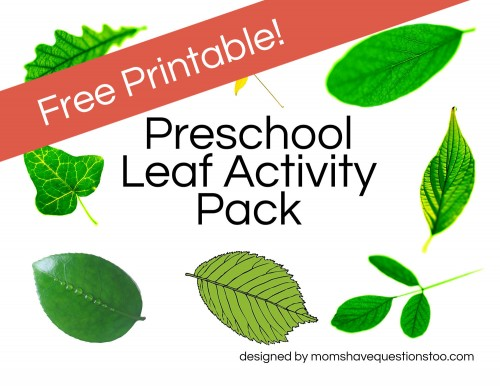 Free Printable Leaf Activity Pack -- Moms Have Questions Too