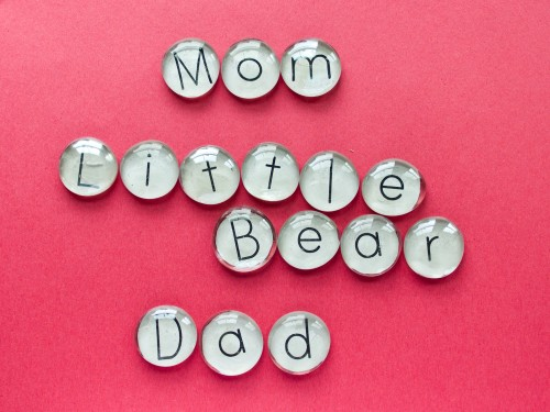 How to Make a Flat Marble Alphabet
