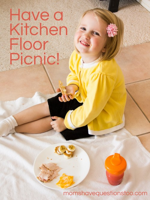 Kitchen Floor Picnic -- Moms Have Questions Too