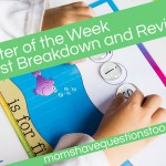 Letter of the Week Cost Breakdown