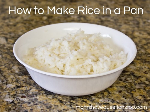 Cooking for College Students -- How to Make Rice -- Moms Have Questions Too