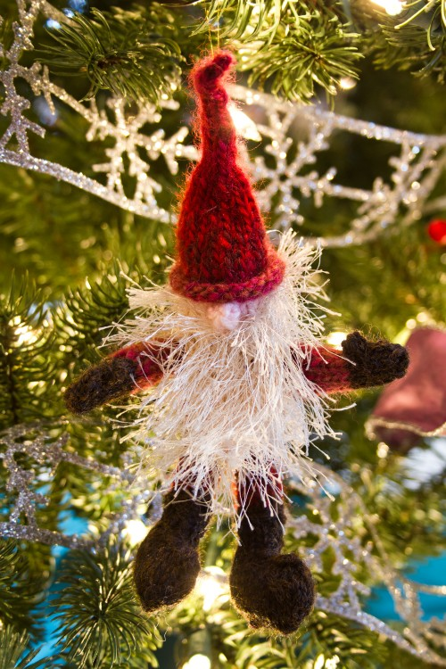 Homemade Christmas Decorations Knit Elf -- Moms Have Questions Too