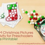 M&M Christmas Pictures Activity