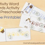 Nativity Word Cards Activity