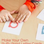 Puffy Paint Letter Cards: Montessori Sandpaper Letters Alternative