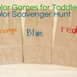 Color Games for Toddlers Part 9 — Color Scavenger Hunt