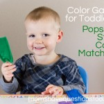 Color Games for Toddlers Part 8 — Popsicle Stick Color Matching