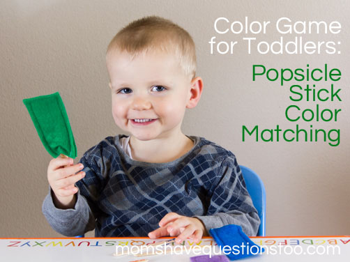 Color Games for Toddlers Part 8 - Popsicle Stick Color Matching ...