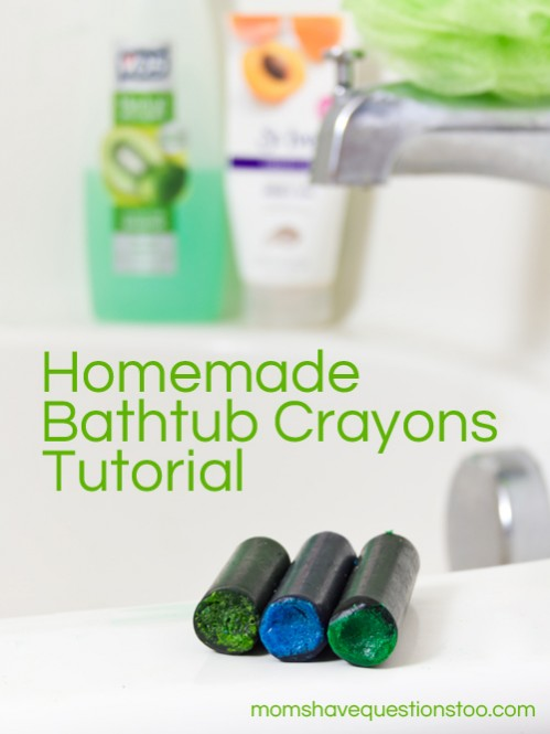 Homemade Bathtub Crayons Tutorial -- Moms Have Questions Too