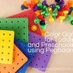 Color Games for Toddlers Part 6: Pegboards and Pegs Color Recognition