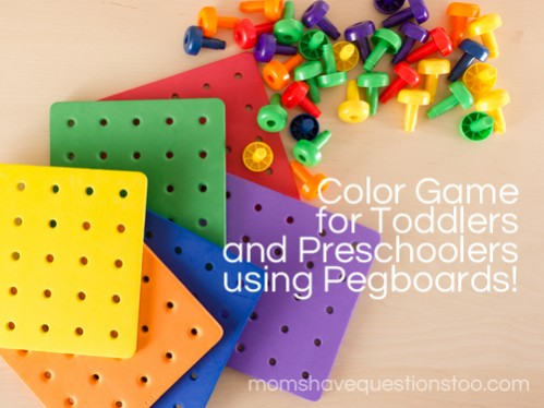 Color Games for Toddlers Part 6: Pegboards and Pegs Color ...