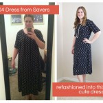 Savers Shopping Trip and Dress Refashion