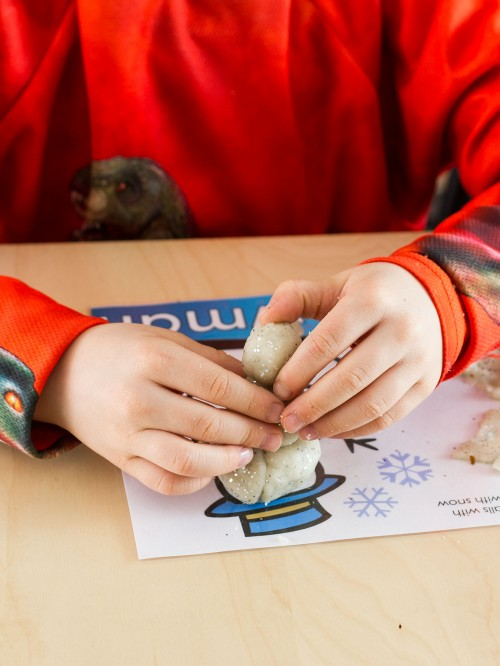 Snow Play Dough Mats -- Moms Have Questions Too