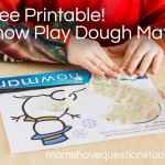 Snow Play Dough Mats