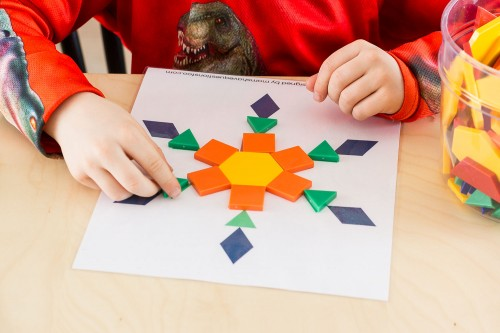 Snowflake Pattern Blocks Templates -- Moms Have Questions Too