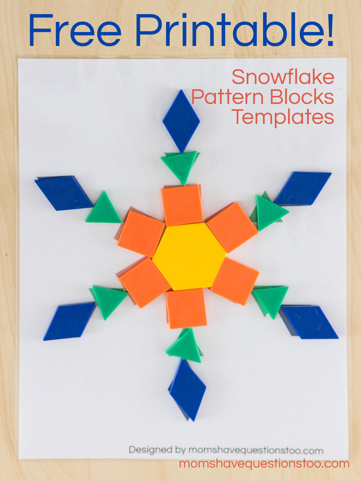 Pattern Block Template | Snowflake Pattern Blocks Templates Moms Have Questions Too