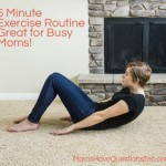 At Home DIY Exercise Program for Moms