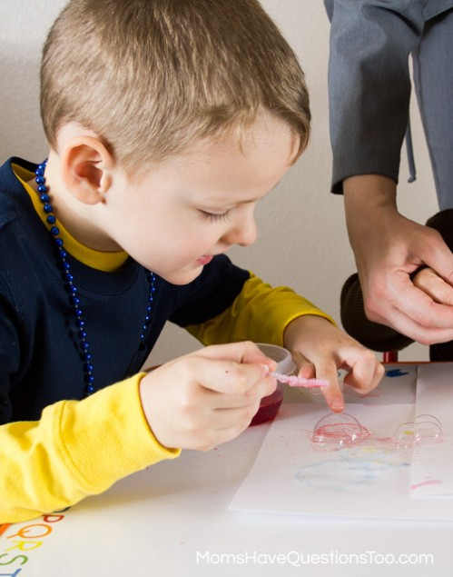 Bubble Painting Color Game for Toddlers -- Moms Have Questions Too