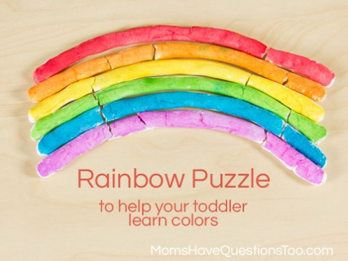 Rainbow Puzzle Color Game for Toddlers -- Moms Have Questions Too