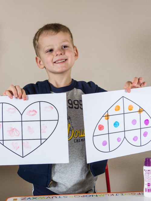 Valentine's Day Math Stamping Activity -- Moms Have Questions Too