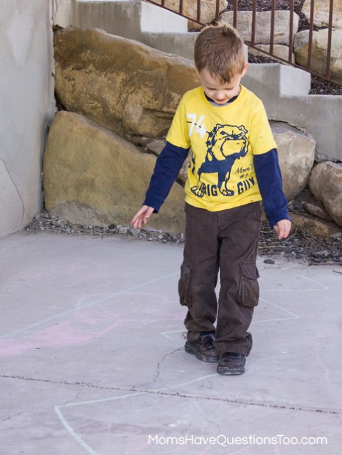 A fun activity to help children develop locomotor skills -- Moms Have Questions Too