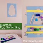 Easter Craft for Kids – Easter Egg Decorating on a Vertical Surface