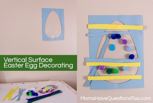 Easter Egg Decorating Vertical Surface -- Moms Have Questions Too
