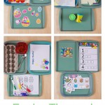 Easter Themed Tot School Trays
