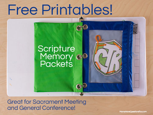 Free Printable! ABC Scripture Memory Packets -- Moms Have Questions Too