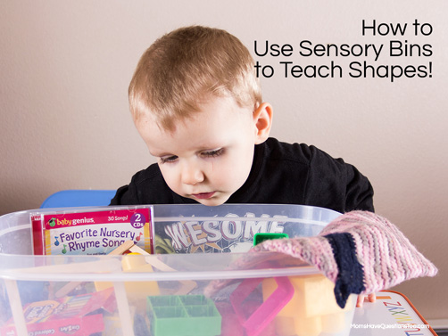 Sensory Bin To Teach Shapes To Toddlers And Preschoolers