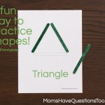 Popsicle Stick Shapes Activity – Teaching Shapes