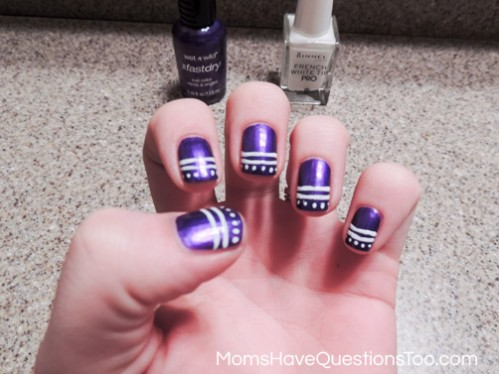 Nail art designs using lines best nails 2018 spring nail art ideas using dots moms have ions too prinsesfo Image collections