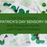 St. Patrick's Day Sensory Bins and Treasure Hunts for Kids