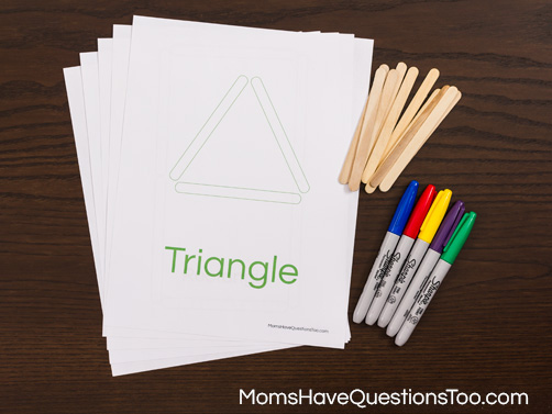 Shapes Activity for Toddlers and Preschoolers - Moms Have Questions Too