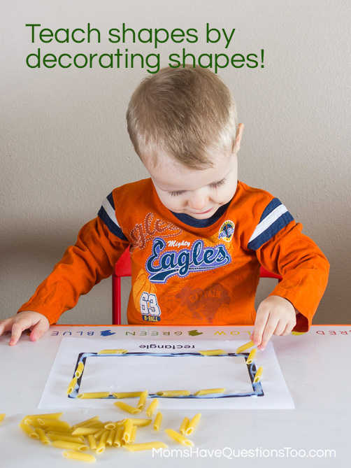 Teach Shapes by Decorating Shapes - Free Printables -- Moms Have Questions Too