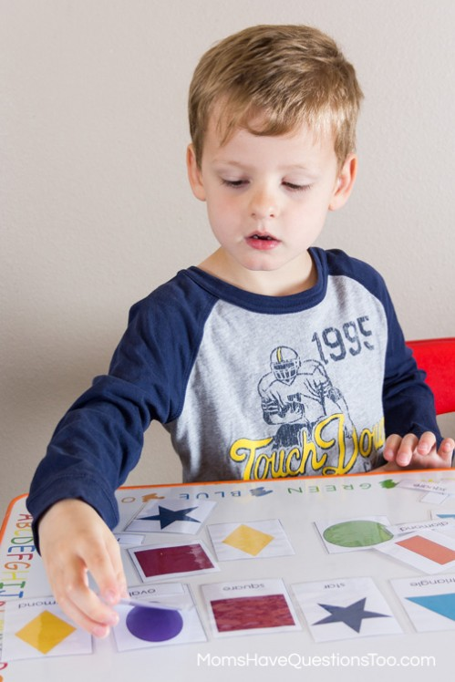 3 Part Montessori Puzzle - 5 Shape Activities for Preschoolers Using Shape Cards - Moms Have Questions Too